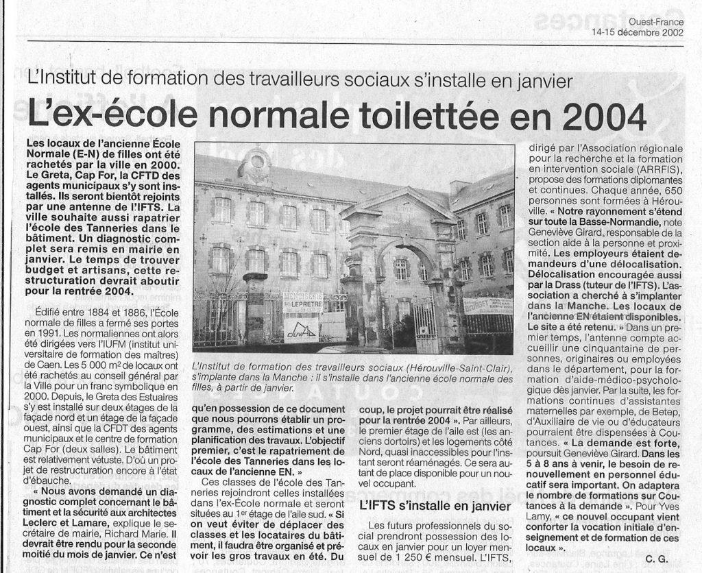 Institut de formation des travailleurs sociaux – Ouest-France