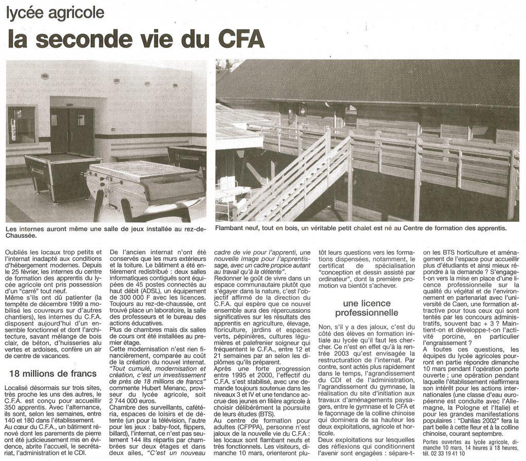 Lycée agricole – la seconde vie du CFA
