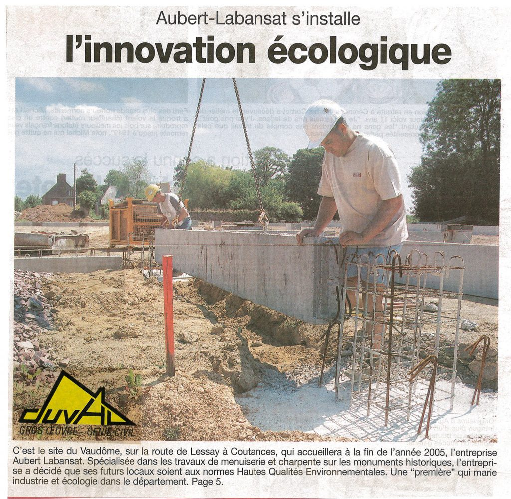 Construction de locaux écologiques à Coutances