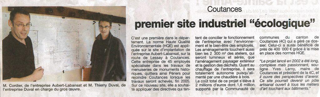 Le premier site industriel écologique de Coutances