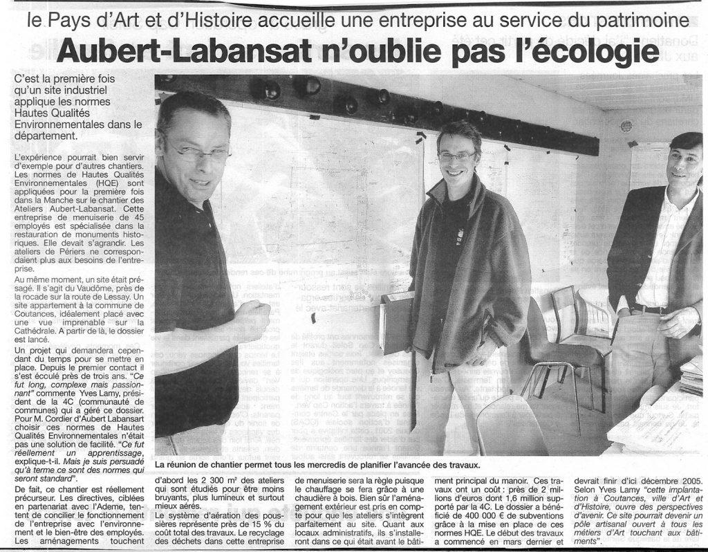 Ateliers Aubert-Labansat, au service de leur patrimoine