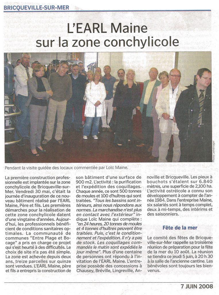 Inauguration du bâtiment EARL Maine à Bricqueville-sur-Mer