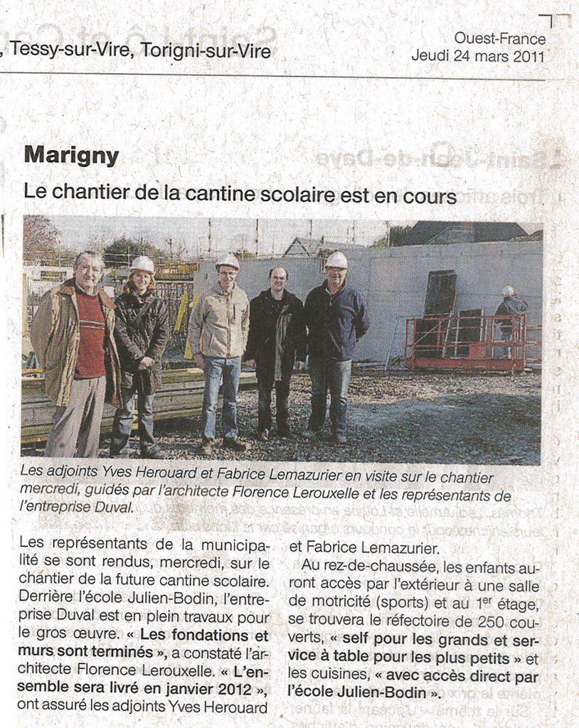 Cantine scolaire de Marigny