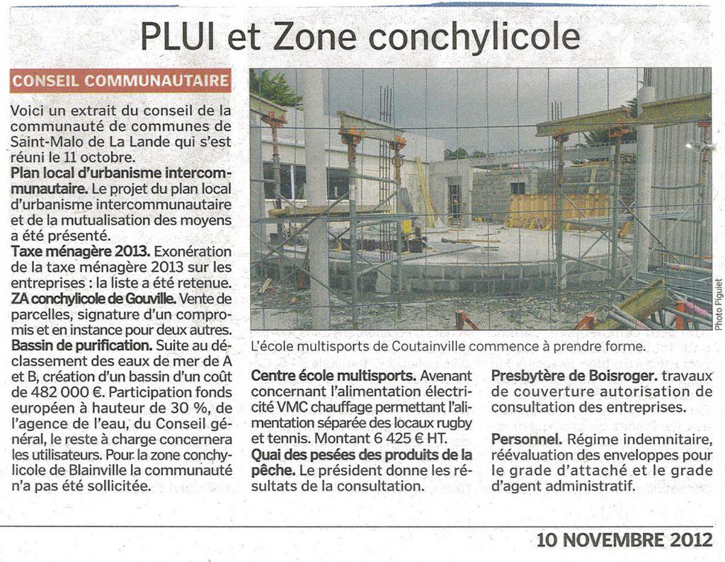 PLUI et Zone Conchylicole