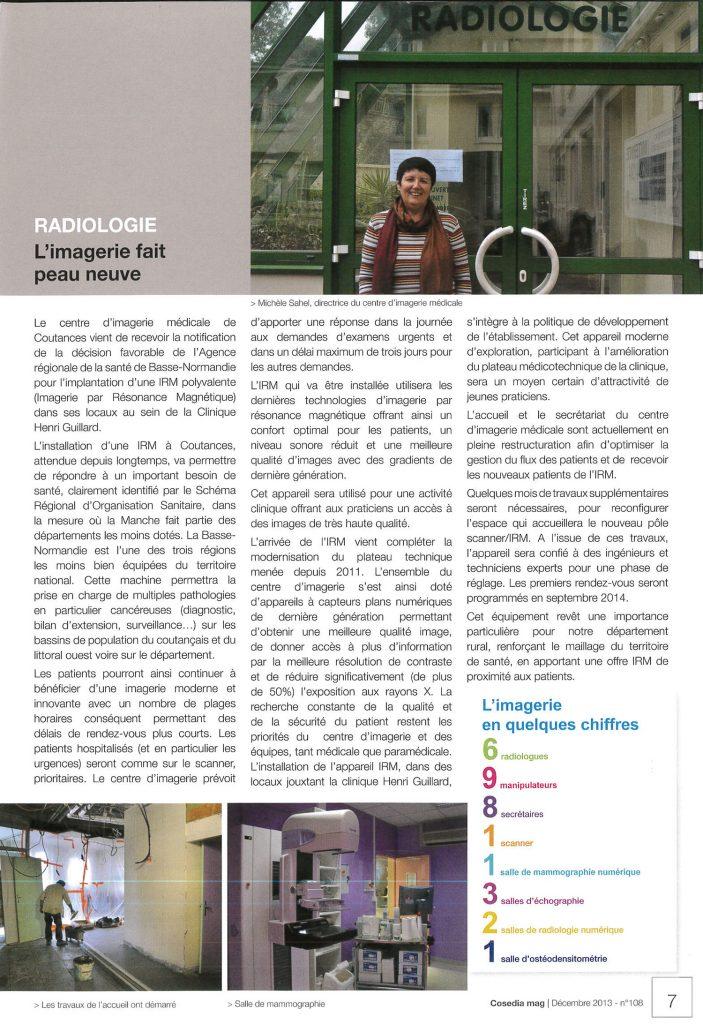 Implantation d'une IRM à Coutances – CosediaMag